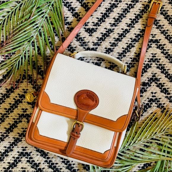 Dooney & Bourke Handbags - Dooney & Bourke White Leather Surrey Crossbody AWL